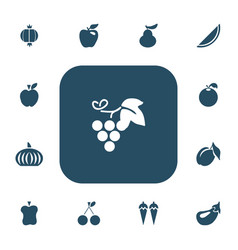set of 13 editable fruits icons includes symbols vector image vector image