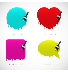 Set of banners with paintbrush vector image vector image