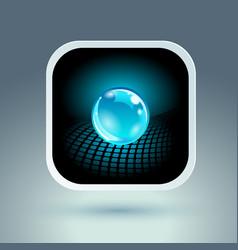 sphere app icon conceptual hi-tech design vector image vector image
