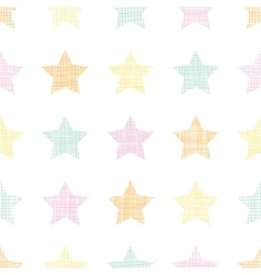 Stars textile textured pastel seamless pattern vector image vector image