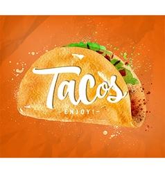 Tacos color vector