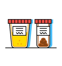 Urine and fecal analysis vector