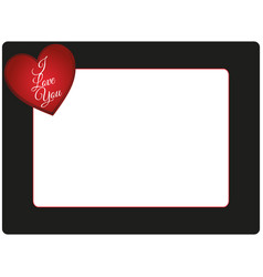 valentines day photo frame vector image