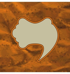 Vintage speech bubble design vector image vector image