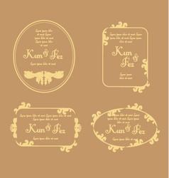 Wedding invitation print template vector