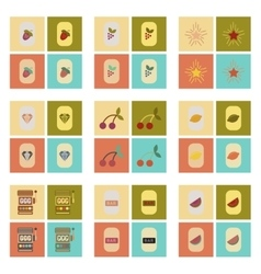 Assembly flat icons poker symbols vector