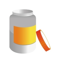 Medicine bottle pill icon vector