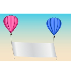 An announcement in a hot air balloon vector