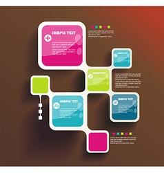 Retro Style Website Template design frame vector image