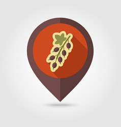 Currant flat pin map icon berry fruit vector