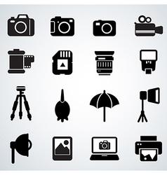 Camera accessories vector