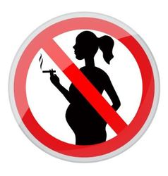 Pregnant women and cigarette vector