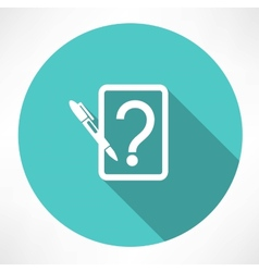 Note with question icon vector