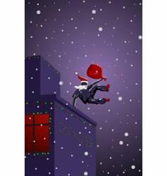 Parkour Santa Claus vector image