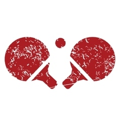 Tennis rackets red grunge icon vector
