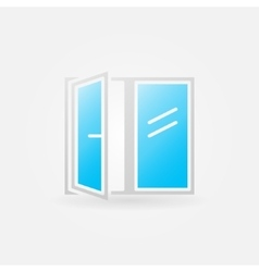 Glossy window icon vector