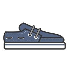 Boat shoe vector