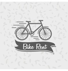 Logo sign or badge template bicycle and the words vector