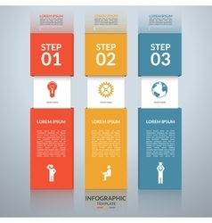 Infographic design template with marketing icons vector