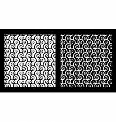 two seamless patterns with spirals vector image