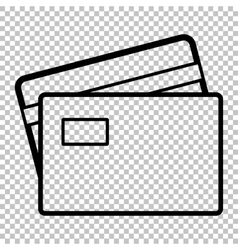 Credit card line icon vector