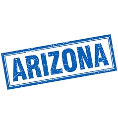 Arizona blue square grunge stamp on white vector
