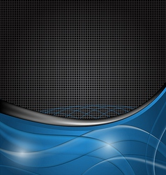 Abstract blue design template vector image vector image