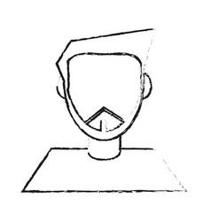 Abstract faceless man icon image vector