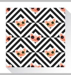 Animal seamless pattern collection with piggy 4 vector image vector image