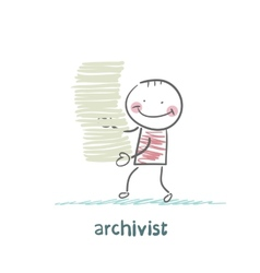 Archivist is a stack of files vector