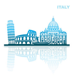 attractions italy abstract landscape vector image vector image
