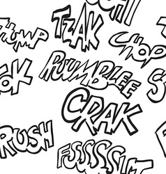 black and white comic sounds pattern vector image