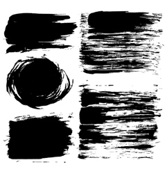 Black Grunge Texture Backgrounds Set vector image