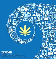 Cannabis leaf sign symbol nice set of beautiful vector