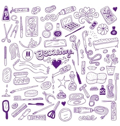 Cosmetic - doodles collection vector