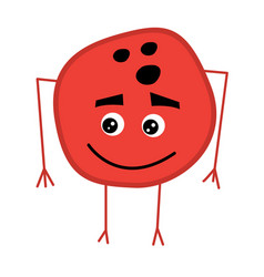 Cute bowling ball cartoon character vector