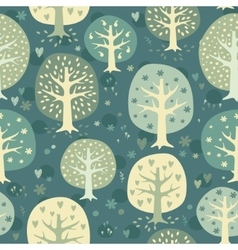 cute night forest background vector image vector image