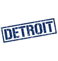 Detroit blue square stamp vector