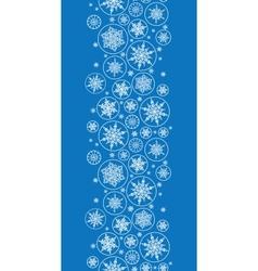 Falling snowflakes vertical border seamless vector