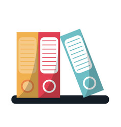 Folder document archive folio office vector