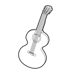 Guitar icon outline isometric style vector