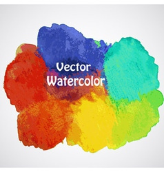 Hand drawn watercolor background vector
