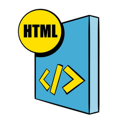 html file icon cartoon vector image