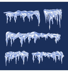 Ice sheets with icicles vector image