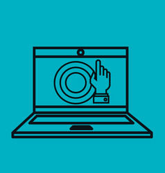 Laptop computer technology isolated icon vector