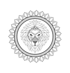 Lion icon Animal and Ornamental predator design vector image