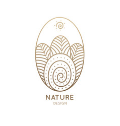 logo oval nature vector image