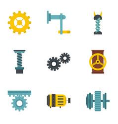 mechanism icon set flat style vector image vector image