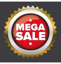 Mega sale badge vector