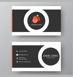 modern presentation card with company logo vector image